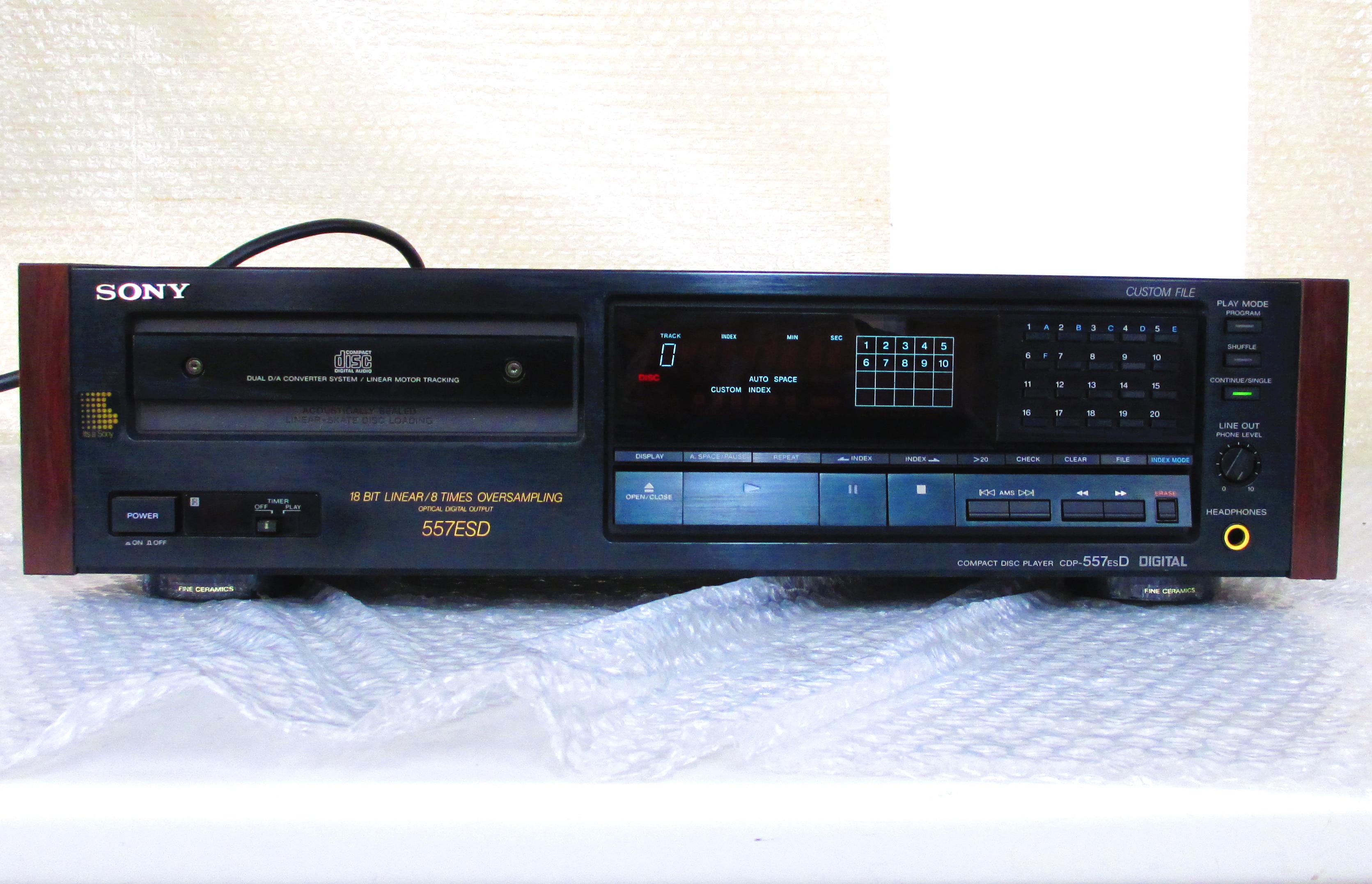 SONY CDP-557ESD CDプレイヤーを買取させて頂きました!